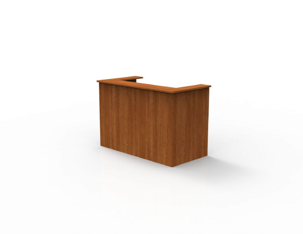 Single Reception Counter, Full Modesty with Panel End, Single Section, 825mm Deep. Choice of Finish